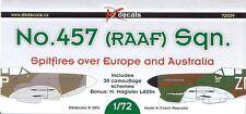 1/72 DK Decals; No.457 (RAAF) Sqn. Spitfires Over Europe & Australia