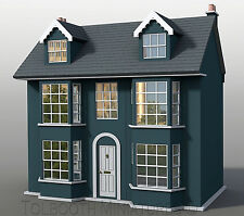 Grove House Dolls House 1:12 Scale  - Unpainted Collectable Dolls House Kit