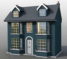 Grove House Dolls House 1:12 Scale  - Unpainted Dolls House Kit