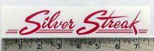 Vintage Silver Streak trailer RV sticker decal