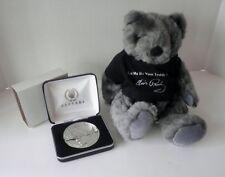 Elvis Presley Caesars Casino Coin In Display Case W/ Elvis Teddy Bear Mint