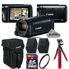 Canon VIXIA HF R 800 57x Camcorder + EXT BATT + 64GB - Essential Kit Bundle