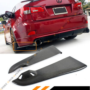 FOR 06-13 LEXUS IS250 IS350 ISF CARBON FIBER REAR BUMPER LOWER SIDE APRON SPATS