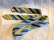 Old Navy Belt, 100% Silk, L, striped with buckle, new w/o tags, Ships FREE!