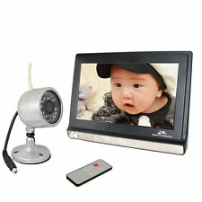 "7"" Baby Monitor 2.4G Wireless DVR Home Security CCTV Video System w/ IR Camera"