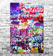 STUNNING ABSTRACT GRAFFITI POP ART CANVAS #9 QUALITY A1 CANVAS PICTURE WALL ART