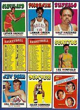 1971-72 Topps Basketball Starter Set 9 Different Cards (24-199) G-VG