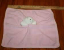 HTF RARE Under Nile pink security blanket white bear