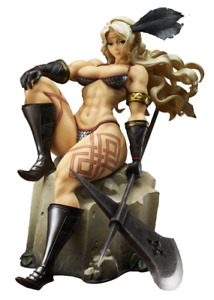 NEW DRAGON'S CROWN AMAZON X-PLUS FIGURE COLLECTABLE RESIN FIGURINE BOXED