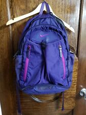 NIKE Purple Backpack, Bookbag, or Gym Bag with Laptop & Sneaker Compartments
