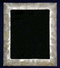 """Capiz Polished Shell Tabletop Picture/Photo Frame """"10 X 12"""" Glass Front Panel."""