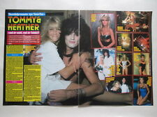 Heather Locklear Tommy Lee Motely Crue 2 pages clippings Sweden 1980s