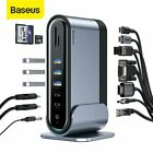 Baseus Type C HUB USB 3.0 RJ45 HDMI VGA Docking Station Splitter for MacBook Pro