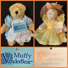 """8"""" MUFFY VANDER BEAR """"DAY IN THE COUNTRY"""" & HOPPY """"EASTER FANTASY"""" - NABCO"""