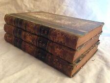 Trevelyan - Lady Scott - Three Volume Novel - 1834 Bentley - Old Fine Binding