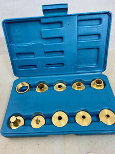 ROCKLER BRASS ROUTER GUIDE BUSHINGS TEMPLATE SET, Excellent Condition