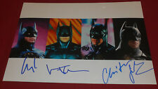 BALE CLOONEY KILMER SIGNED BATMAN RARE COLLAGE 8X10 PHOTO AUTOGRAPH COA DAMAGE