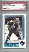1986 Topps hockey card #68 Miroslav Frycer, Toronto Maple Leafs graded PSA 9