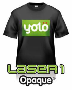 Laser 1 Opaque Laser Heat Transfer Paper for Dark Fabrics (inc. wholesale)