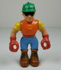 "Unbranded Construction Worker 3"" Tall Children's Preschool Action Figure Toy"