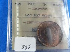 Canada  1 cent 1900 MS-63