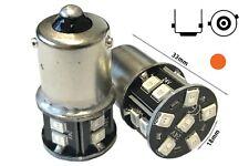 24V COPPIA lampadine Lampade Led smd2835 BAU15S R5W PY21W Arancione Piedi Storti