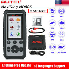 Autel MD806 Auto Diagnostic Scan Tool Airbag Transmission BMS Engine Throttle US
