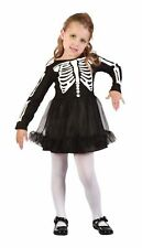 Girls Skeleton Girl Toddler Costume for Halloween Fancy Dress Outfit Child