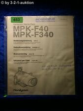 Sony Bedienungsanleitung MPK F40 / F340 Handycam Marine Pack (#0453)