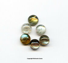 6 MM NATURAL ROUND CUT LOOSE LABRADORITE CABOCHON  AAA  FOR ONE