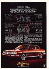1982 Oldsmobile Cutlass Ciera Vintage Advertisement P50