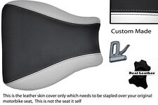 WHITE & BLACK CUSTOM FITS SUZUKI GSXR 600 750 01-03 FRONT LEATHER SEAT COVER