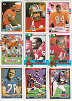 Complete Your 1987,1988,1989,1990,1991 Topps, Fleer Football Set - Pick 20 Cards