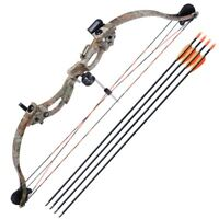 "34"" Youth Compound Bow Kit Target w/28"" Arrow Set Junior Archery Hunting 20lb"
