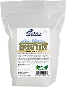 5 lbs Epsom Salt (100% Magnesium Sulfate) USP Grade Crystal Bath Salt