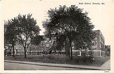 High School in Nevada MO Postcard 1950