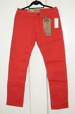 Red Snaps Denim W34 x L32 Mens Stretch Waist pants jeans  gift men