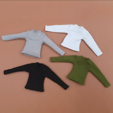 "1/12 Scale Soldier Accessories Clothes Long Sleeve T-shirt 4 Colors F 6"" Doll"