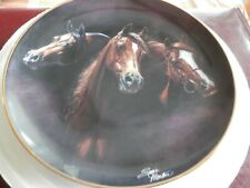 Susie Morton Collectors Horse Plate Set Noble & Free