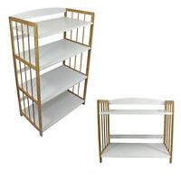 4 tiers Bamboo White Strong Bookcase Bookshelf Shelving Storage Organiser