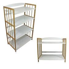 2/4 tiers Bamboo White Strong Bookcase Bookshelf Shelving Storage Organiser