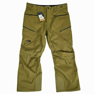 The North Face Mens XL Sickline Snow Pants $199 Green Dryvent Boot Hooks
