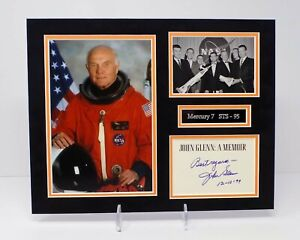 John GLENN Signed Mounted Mercury 7 Astronaut Photo Display AFTAL RD COA