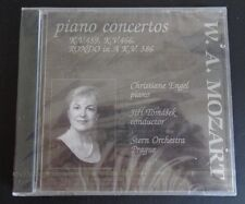 W.A. MOZART Piano Concertos CD Engel Tomasek Stern NEW Free Shipping 2001 Sealed
