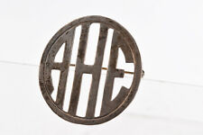 Antique Sterling Silver Pin Displaying the Letters A H E