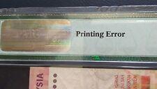 Error MALAYSIA 11TH RM10 Printing Error PMG30
