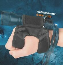Scuba Diving LED Flashlight Holder Glove Light Lamp Torch Hand Wrist Strap Mount