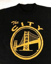 The City Golden State T-shirt Men's Large Or Medium/Large No Size Tag Black