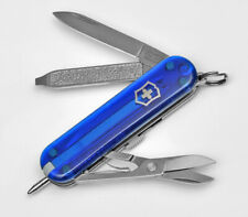 VICTORINOX SIGNATURE 58MM BLUE 7 FUNCTIONS KNIFE KEYCHAIN 0.6225.T2