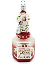 Patricia Breen Loving Spoonful Cherry Jam Santa Jeweled Red Tree Ornament